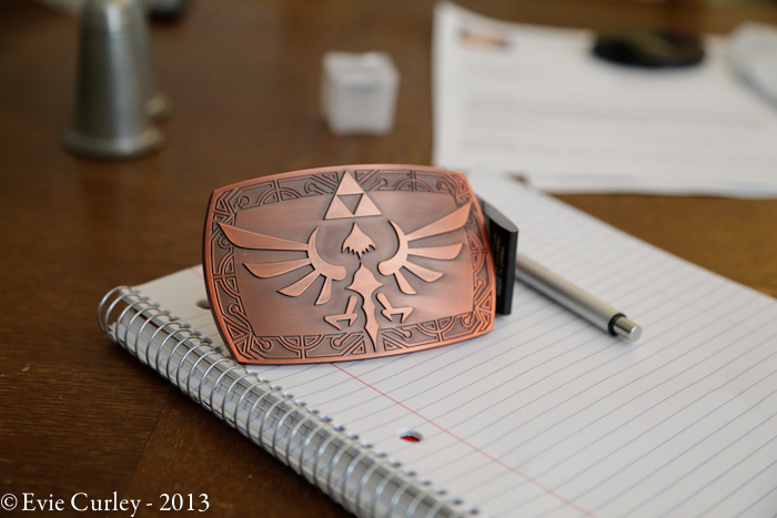 A whimsical life -Zelda belt buckle