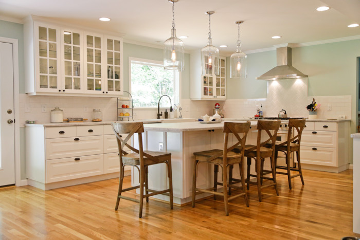 kitchen remodel, marble island